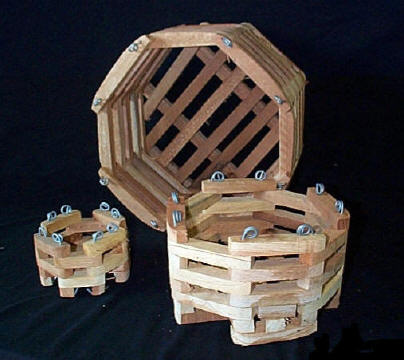 Wood Octagonal Orchid Vanda Baskets 6 810 12 In