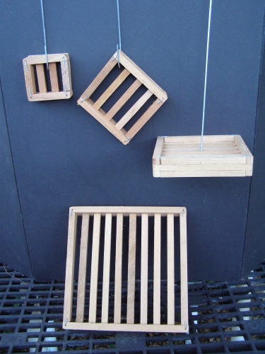 Wood Flat Slatted Mounting Plaques 6 8 Amp 12 Inch