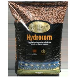 Gold Label Hydrocorn.  Expanded clay pellets.1/4 cubic foot bag.