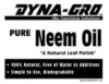 Dyna-Gro. Pure Neem Oil. 8 oz. Liquid concentrate