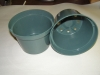 Green Plastic Azalea Pot. 8 in. 10 Pack.
