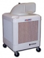 WayCool 1  Hp evaporative cooler with fixed direction air flow. White housing.