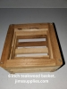 6 Inch Teakwood Square Basket