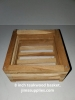 8 Inch Teakwood Square Basket