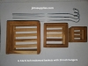 4, 6 and 8 Inch Teakwood Square Basket set. FREE SHIPPING