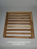12 Inch Teakwood Square Slatted Plaque. FREE SHIPPING